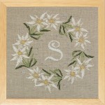 monogramme aux edelweiss