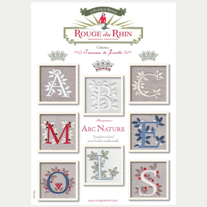 Alphabet complet nature rouge du rhin broderie - Alphabet complet ...