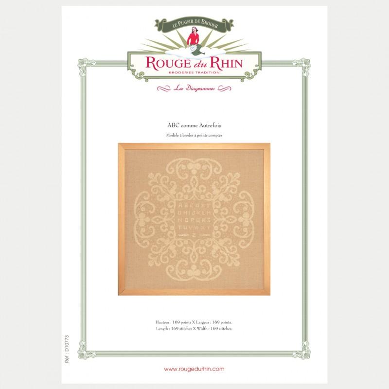Abc comme autrefois chart rouge du rhin broderie for Autrefois home decoration