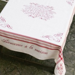 """""""Bienvenue"""" tablecloth"""