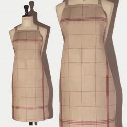 Linen apron violet squared