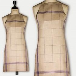 Linen apron blue squared