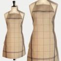 Linen apron black squared